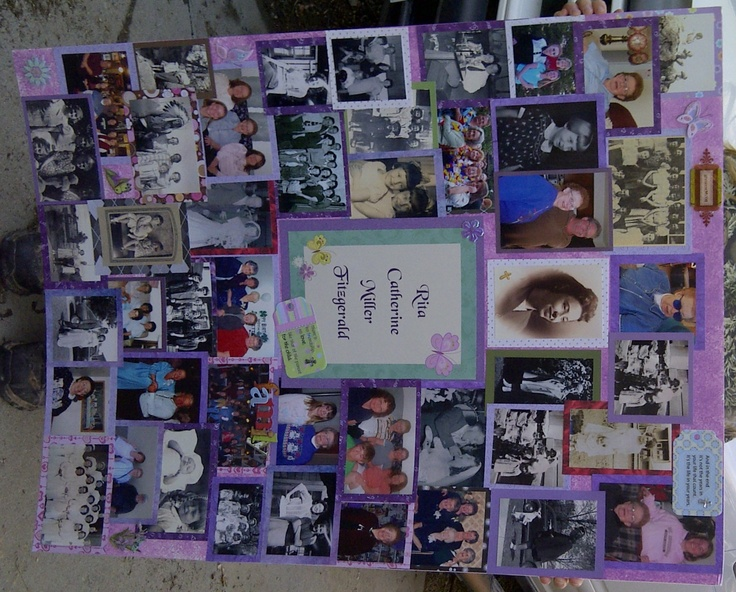 Poster board picture collage ideas