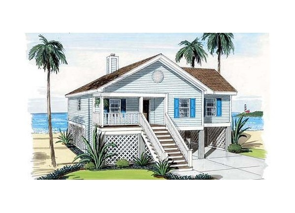 Simple beach cottage 312 718 home plans pinterest Simple beach house plans