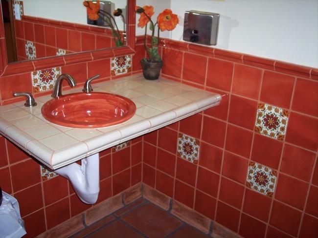 Talavera tile bathroom i love tile pinterest - Bathroom tiles talavera ...