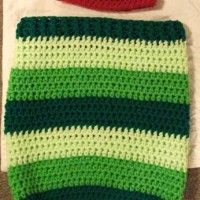 Crochet Pattern, Very Hungry Caterpillar Hat and Cocoon