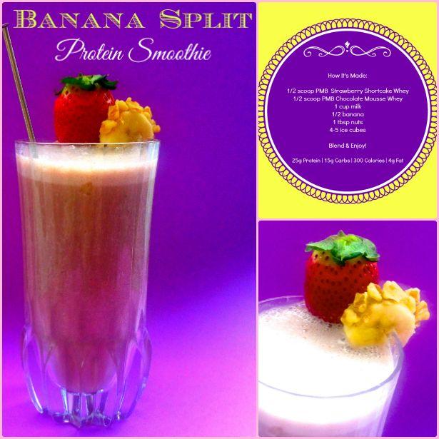 Banana Split Protein Shake Recipe — Dishmaps