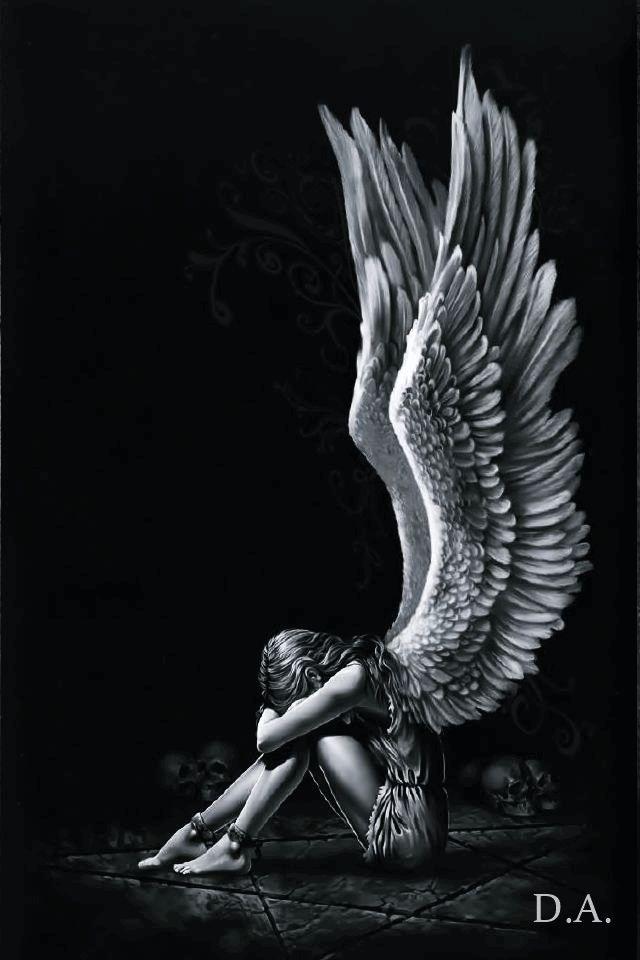 fantasy art angel sad - photo #10