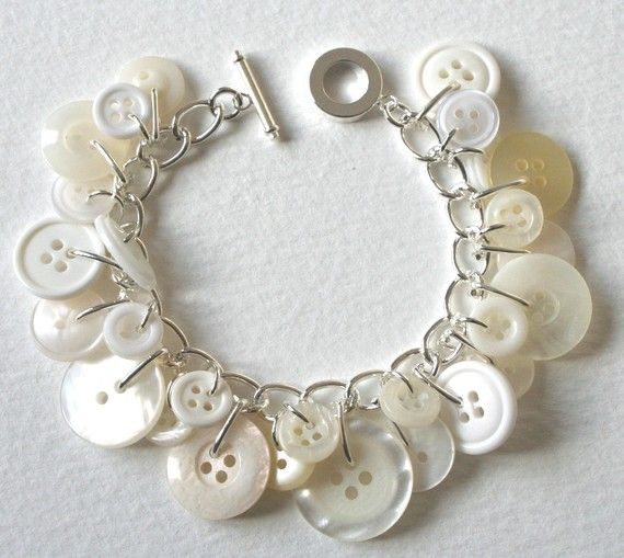 Button charm bracelet, sweet!