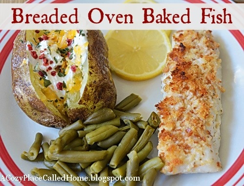 Breaded oven baked fish low fat with gluten free low for Gluten free fish breading