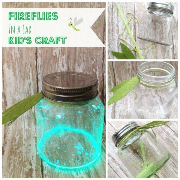 Diy fireflies in a jar craft for kids mason jar ideas for Diy jar crafts