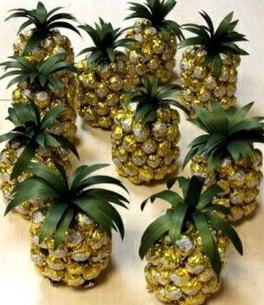 Букеты из конфет пошаговые фото ананас
