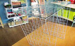 Mesa de centro feita de placas de aramado: aprenda o passo-a-passo - Dicas - Casa GNT