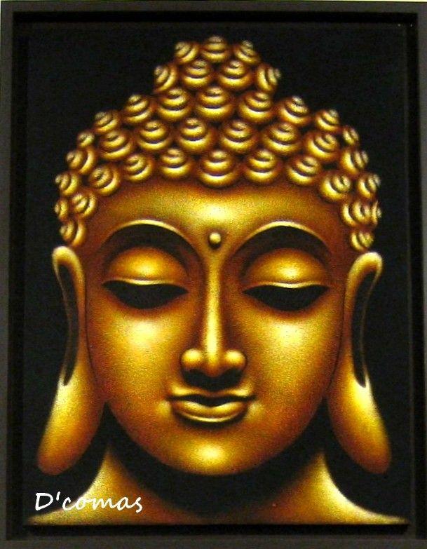 Buddha oil painting buddha pinterest for Buddha mural paintings