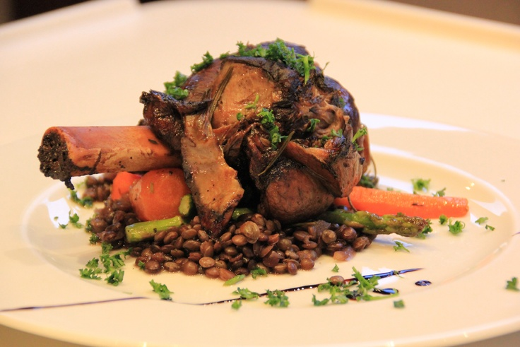 Balsamic Braised Lamb Shank Red Wine Lentils Rosemary Roasted Winter ...