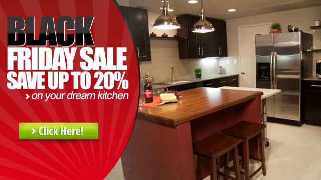 Black friday sale save up to 20 on new kitchen cabinets for Black friday deals on kitchen cabinets