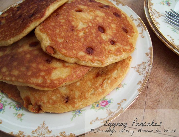 Eggnog Pancakes | Eggnog | Pinterest