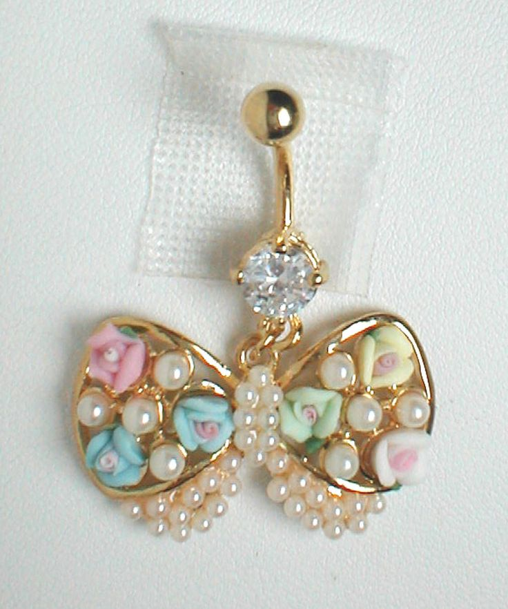 unique belly ring tredny bow