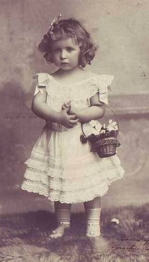 Her Royal Highness Princess Geneviève d'Orleans (1901-1983). So sweet.