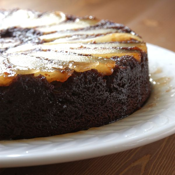 Chocolate and Pear Upside Down Cake! I have been eyeing this recipe ...