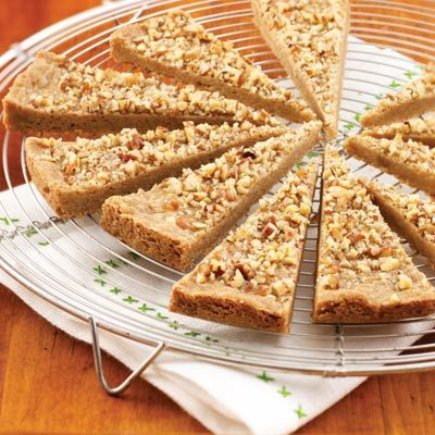 Spiced Pecan Shortbread Wedges Recipe from Land O'Lakes