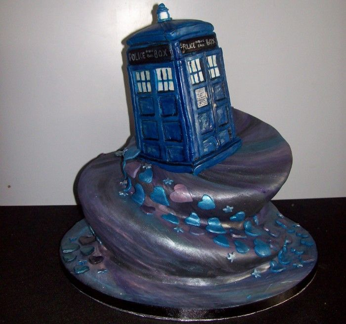 Dr Who cake - with Dalek and a Weeping Angel and maybe a Cyberman and ...