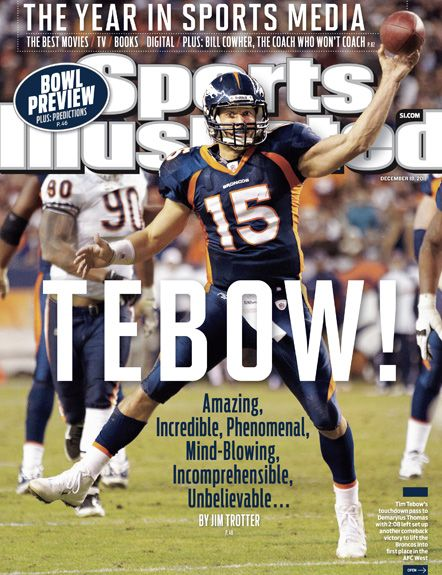 On the Cover: Tim Tebow, Football, Denver Broncos  Photographed by: Peter Read Miller / SI