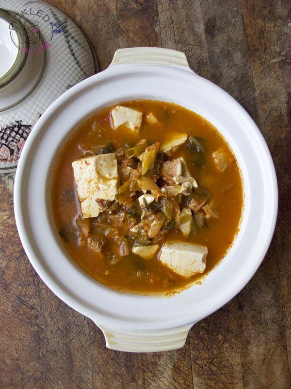 tofu with kimchi and pork belly recipes dishmaps kimchi soup with tofu ...