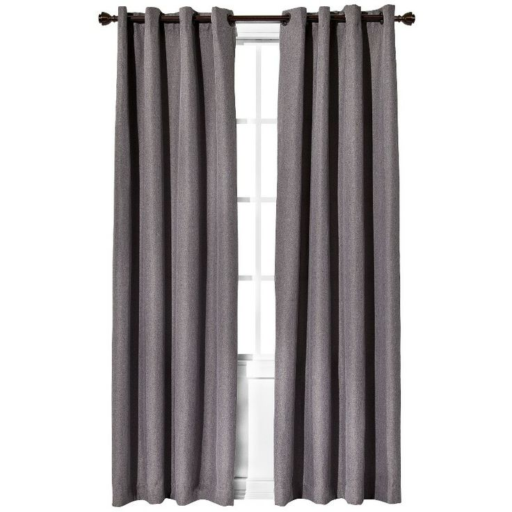 """Eclipse™ Fairfax Thermaweave Curtain Panel - Gray (52x63"""")"""