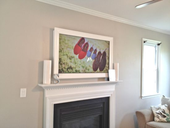 Wall Mounted Tv Frame Home Pinterest