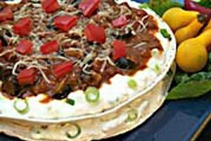 Tortilla Torte Recipe http://www.food2goodhealth.com/Recipe/Healthy ...