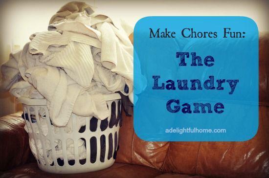 Make Chores Fun - Laundry Game