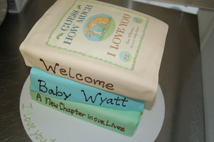 Favorite books baby shower cake by Cake is the Best Part, Redding, CA
