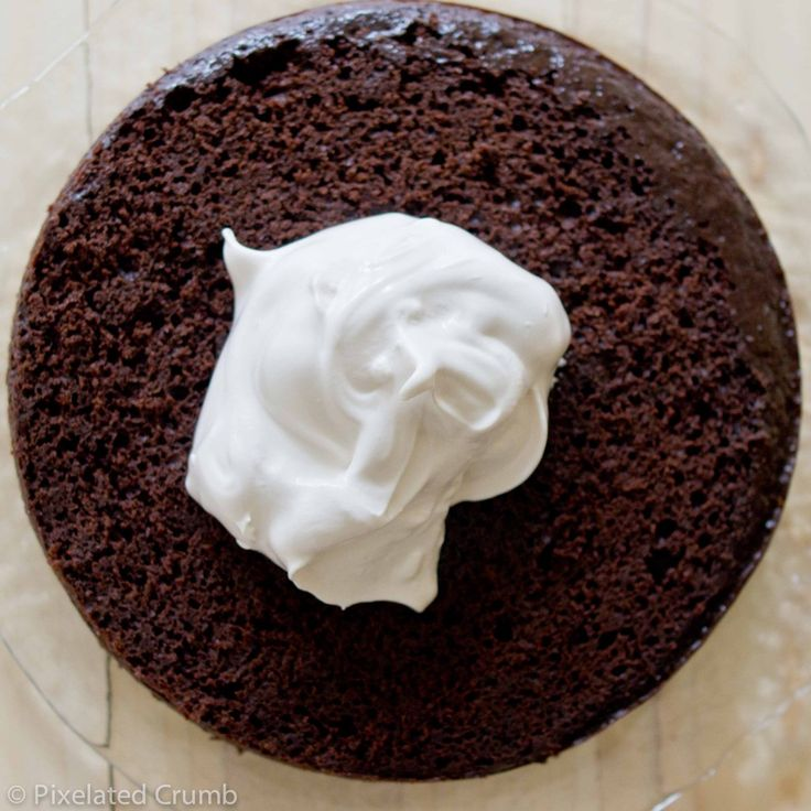 Cake with Marshmallow Frosting 5 1024x1024 three layer chocolate cake ...
