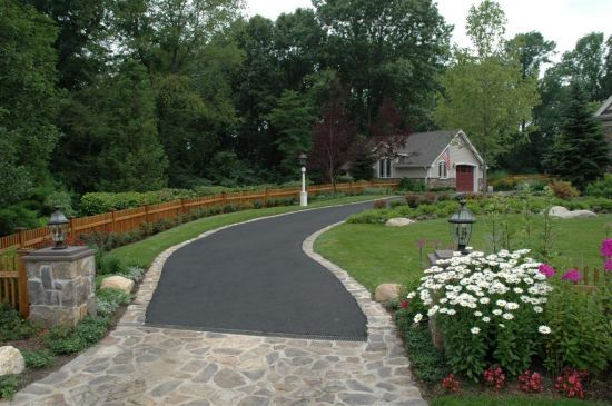 Driveways paver entrance renovation ideas pinterest for Garden driveways designs