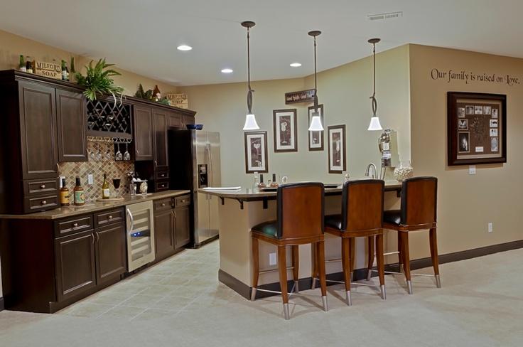 Great Basement Kitchen And Bar Area House Ideas Pinterest