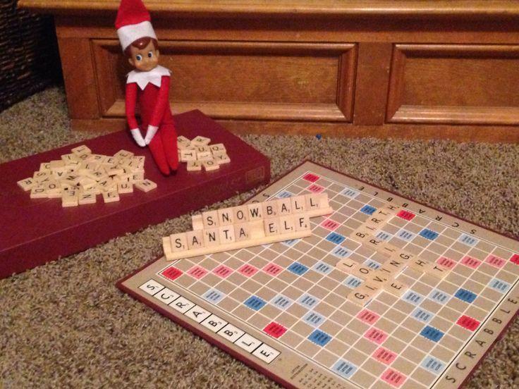 Scrabble Elf   Elf on the Shelf   Pinterest