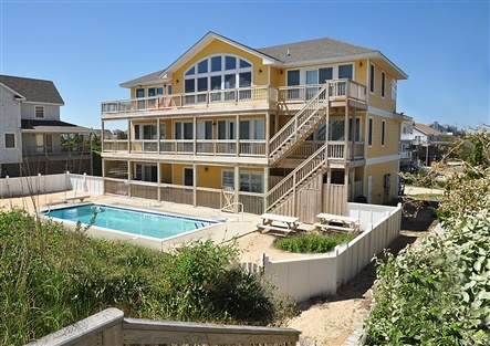 8 bedroom oceanfront wedding house on the Outer Banks, NC in the town of Duck.
