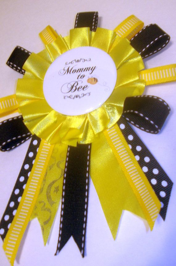 mommy to bee baby shower corsage pin by rainbowshowers on etsy