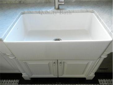 Deep Apron Sink : ... apron front single basin fireclay sink 19