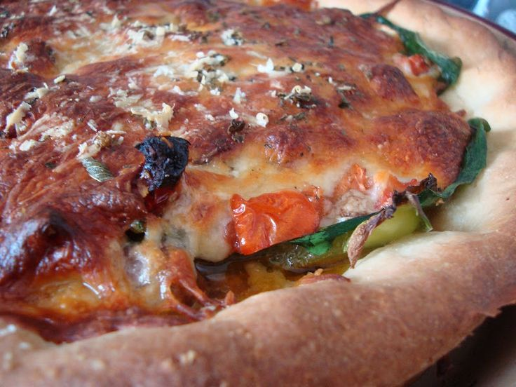 Chicago Style Deep Dish Pizza | Food Pizza/BreadStickes | Pinterest