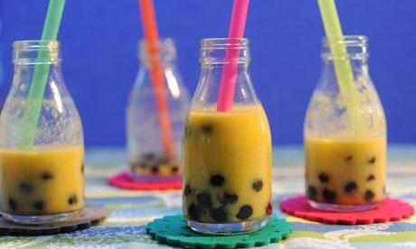 Make your own mango bubble tea