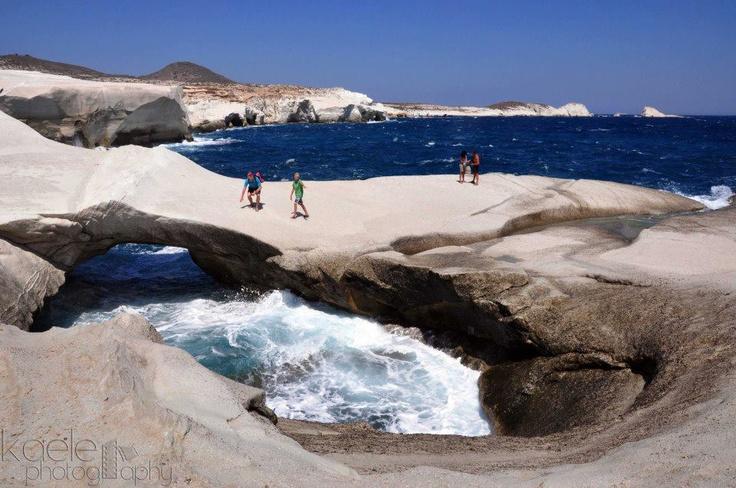 Sarakiniko beach, Milos island  Greece  Pinterest