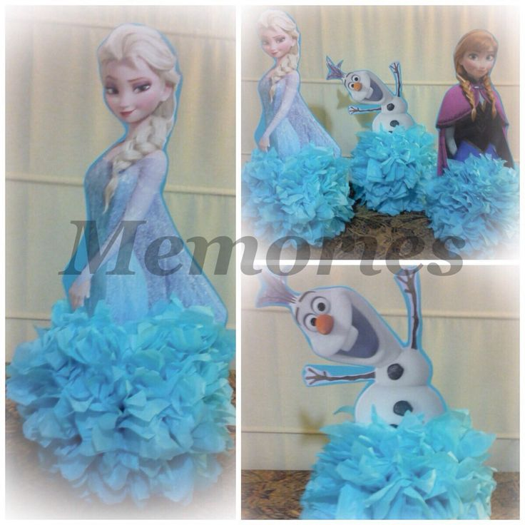 Frozen ! centros de mesa   Piñatas   Pinterest