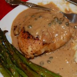 Chicken Breasts in Caper Cream Sauce Allrecipes.com..... yummy