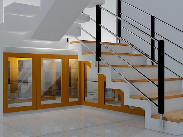 Cabinet down stairs design interior expose pinterest for Stair cabinet design