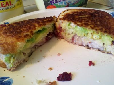 Thanksgiving Leftovers Grilled Cheese via So There. by Amy