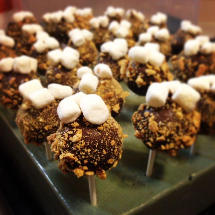 mores cake pops | Cakes | Pinterest