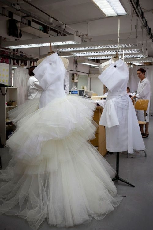 Inside the Dior atelier.