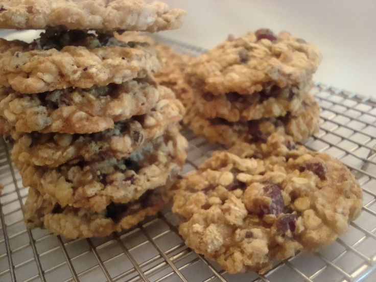 Oatmeal And Dried Cherry Cookies Recipe — Dishmaps
