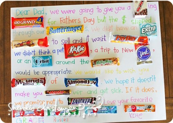 happy father's day candy poster
