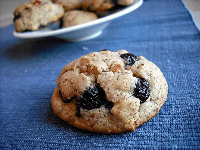 Blueberry Almond Cookies Recipe — Dishmaps