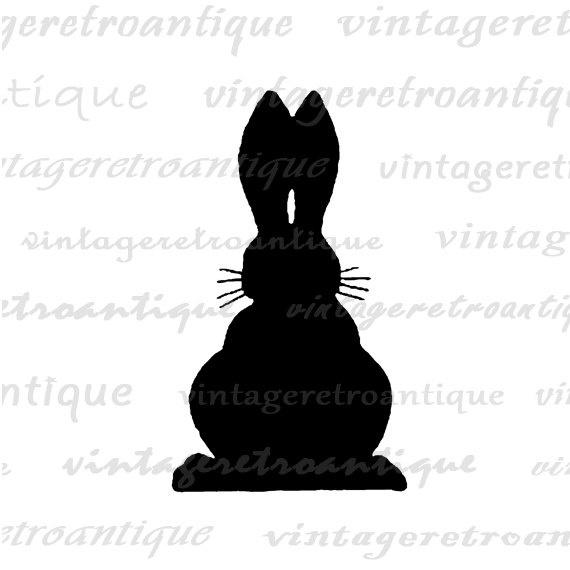 Bunny Rabbit Silhouette | Baby/Kid's Room | Pinterest