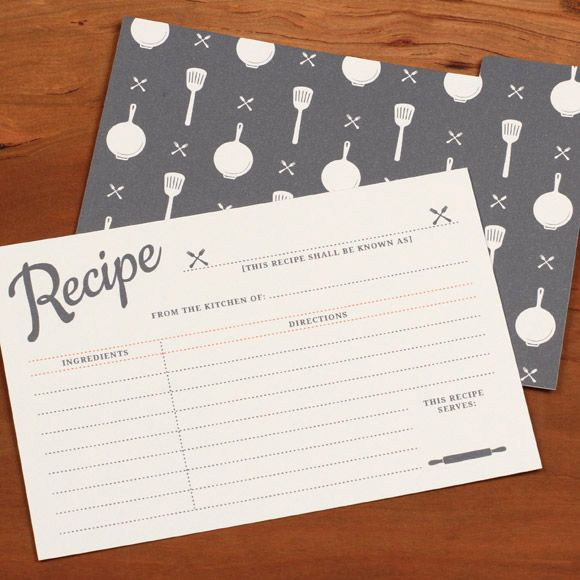 Free printable vintage recipe cards. you can TYPE in your recipe before printing! via @lovevsdesign