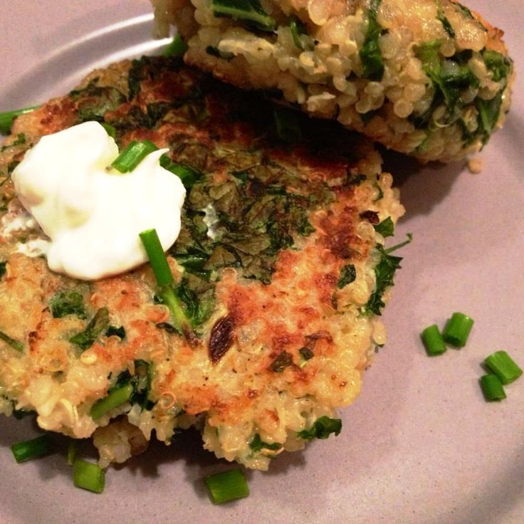 Kale Quinoa Cakes - All in Moderation | Interesting II | Pinterest