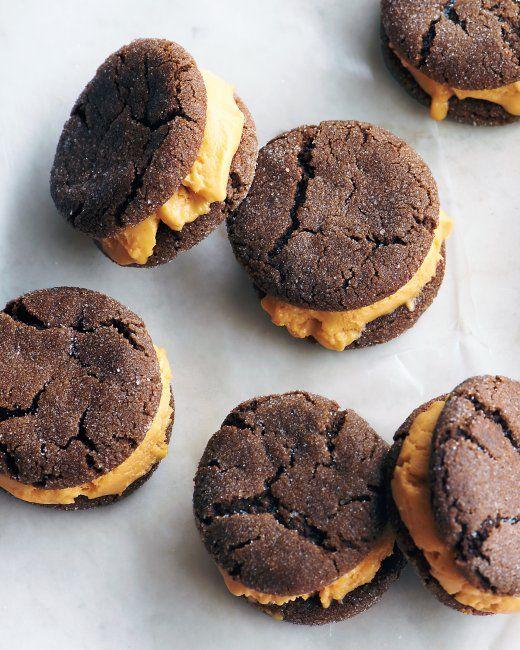 Pumpkin-Gingerbread Ice Cream Sandwiches - Fun idea for all the ...